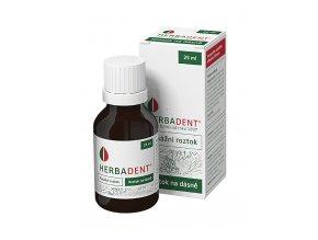 Masážní roztok na dásně z léčivých bylin Herbadent